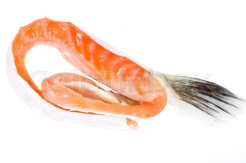 Stock image of 'Salted Salmon Trimmings Studio Photo'