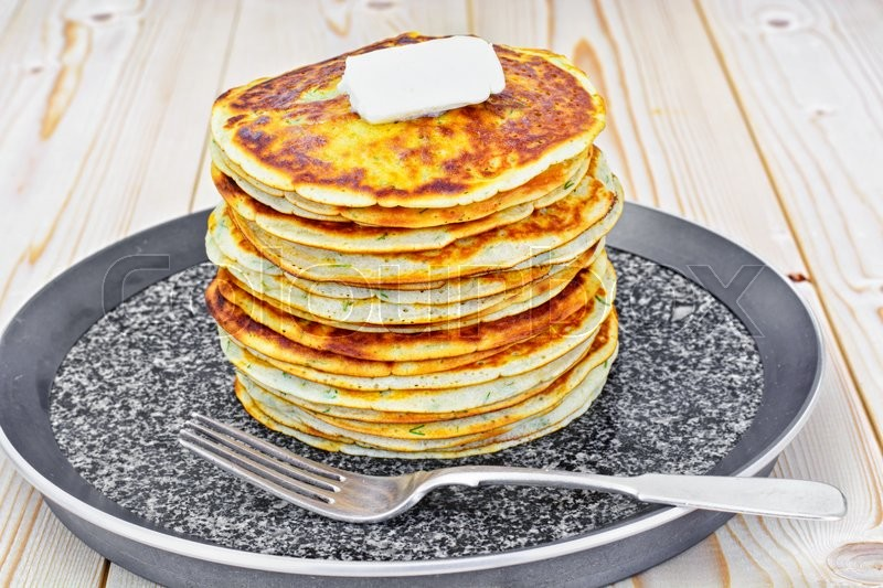 Stock image of 'Tasty Pancakes Stack Studio Photo'