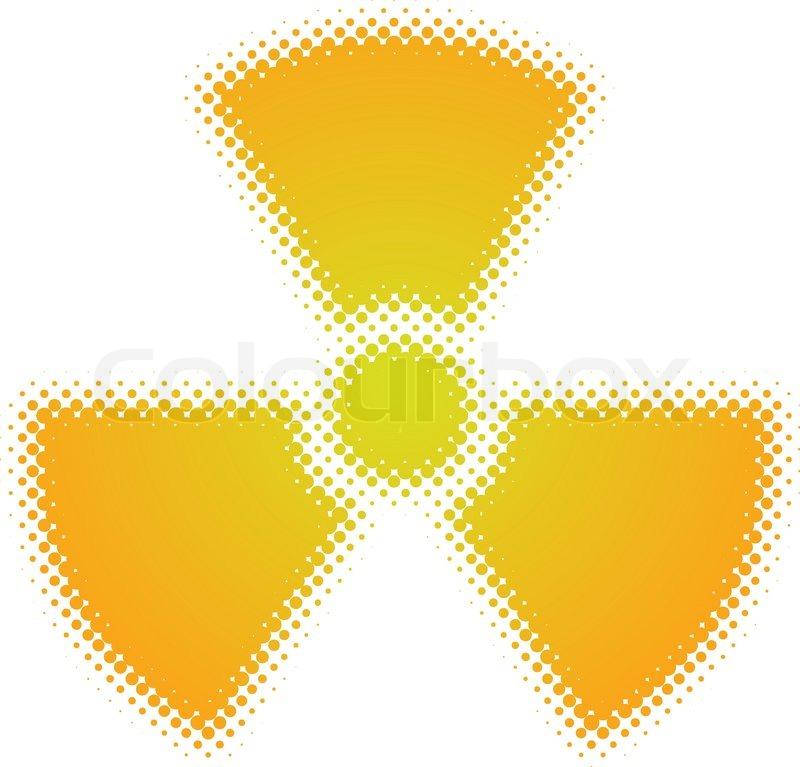 Radioactive Symbol Dots Design Series Stock Vector Colourbox