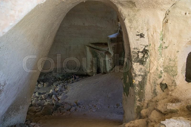 Stock image of 'Archeology attraction ancient caves settlement in Israel'