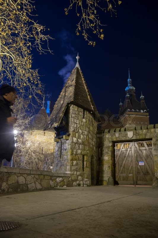 Stock image of 'Travel in night europe Budapest city vacation'