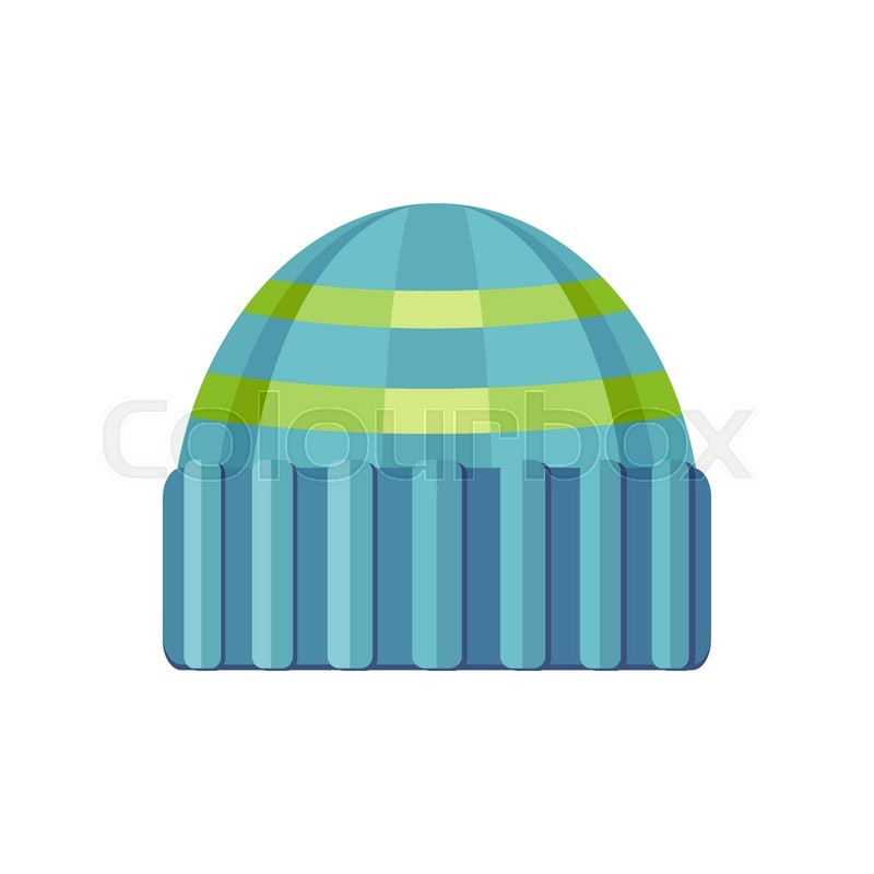 4f8633390cd Winter blue wool hat icon. Knitted ...