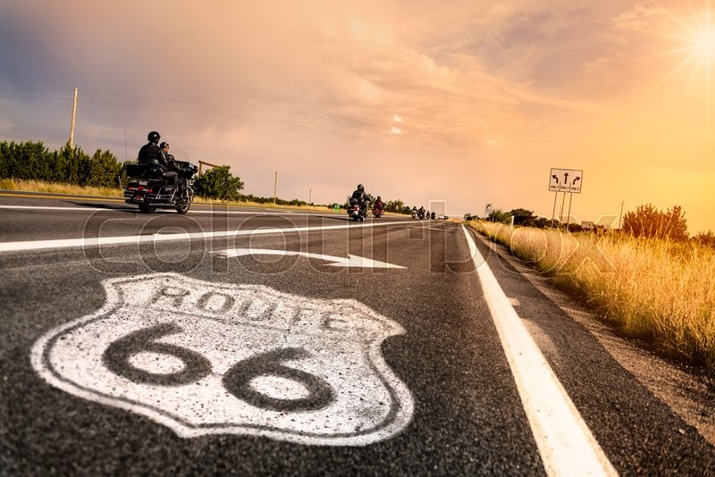 Route 66 road sign in Arizona , stock photo