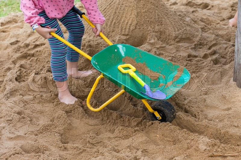 Stock image of 'Toys of kid for playing sand enjoy in playground'