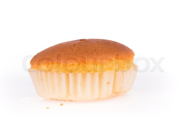 Stock image of 'cupcake of banana dessert isolated on white'