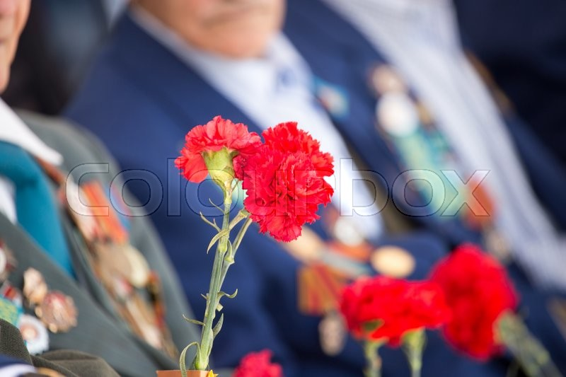Editorial image of 'Shymkent, KAZAKHSTAN May 8, 2016: Victory Day in memory of the soldiers of the Great Patriotic War. Victory Day celebration in the city of Shymkent, Kazakhstan, May 8, 2016'