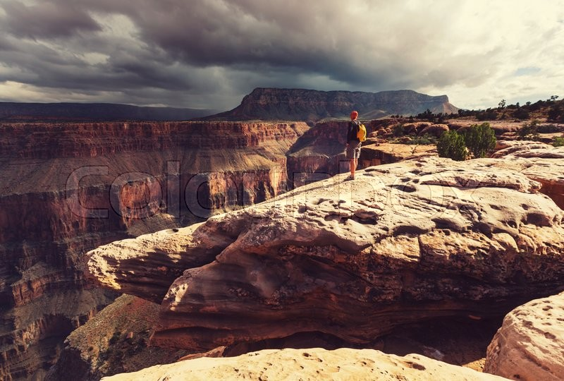 Stock image of 'Hike in Grand Canyon National Park'