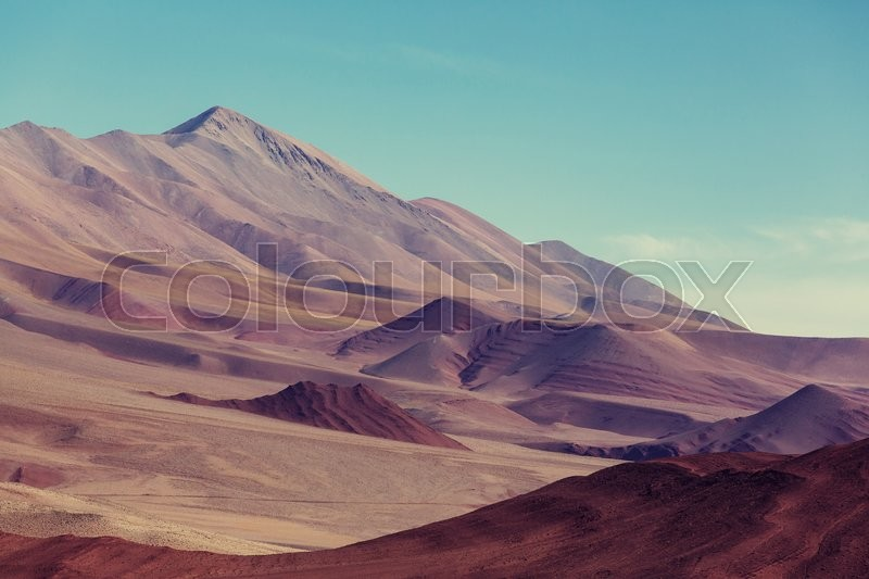 Stock image of 'Mountain plateau La Puna, Northern Argentina'