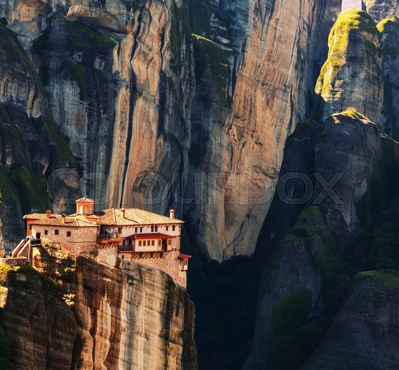 Stock image of 'Meteora monasteries in Greece. Instagram filter.'