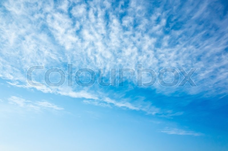 Stock image of 'Natural bright blue sky with altocumulus cloud layers, background photo texture'