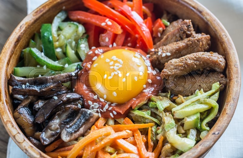 Stock image of 'Bowl of bibimbap'