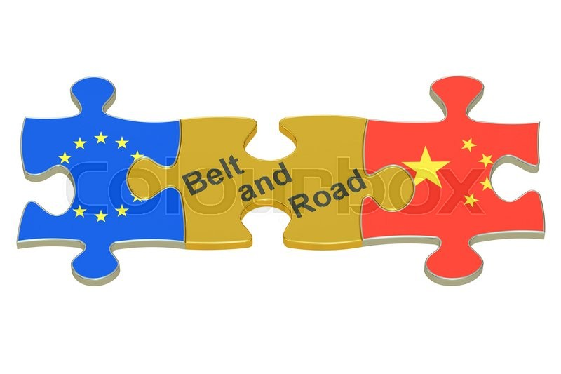 Stock image of 'Belt and Road, 3D rendering isolated on white background'