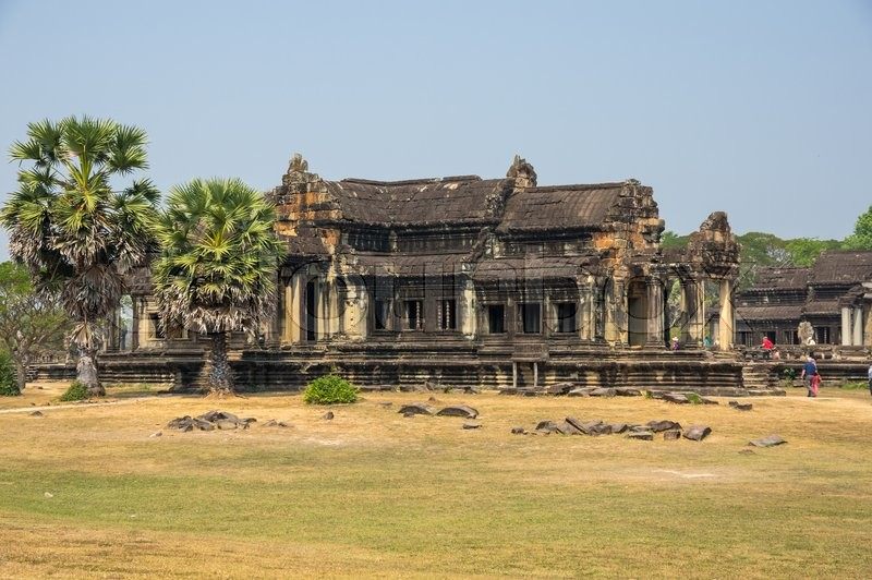 Stock image of 'Angkor Wat temple in Cambodia. Angkor Wat is the largest Hindu temple complex and religious monument in the world'