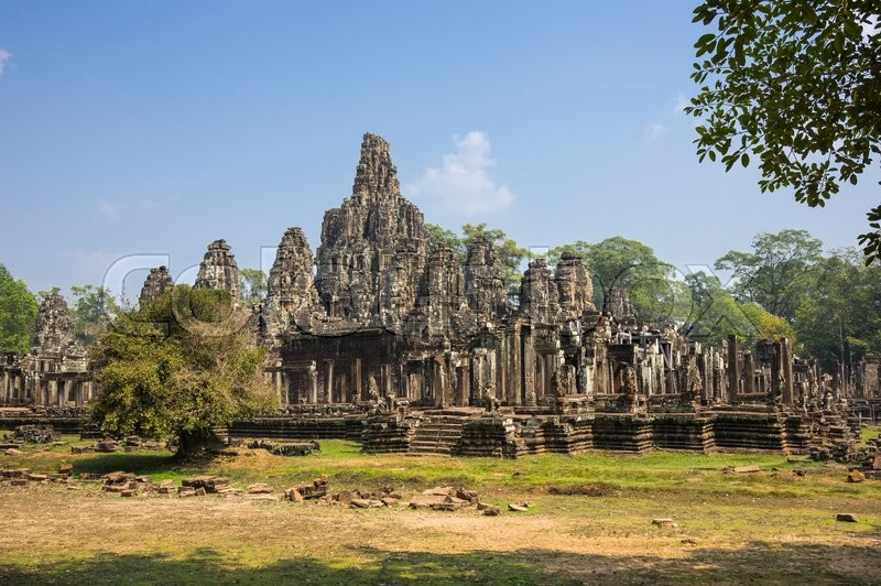 Stock image of 'Bayon temple at Angkor Wat complex, Siem Reap, Cambodia'