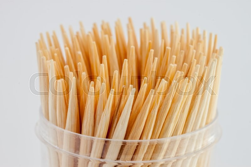 Stock image of 'many toothpicks closeup can be used as background'