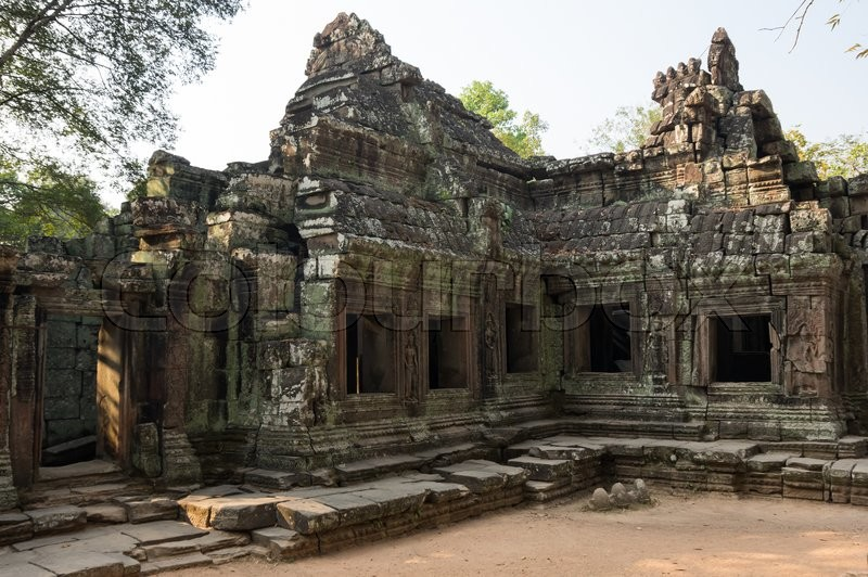 Stock image of 'Ruins of Ta Prohm temple at Angkor Wat complex, Siem Reap, Cambodia'