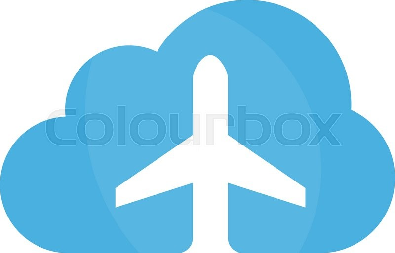 vector airplane and cloud logo design template airport logo sky