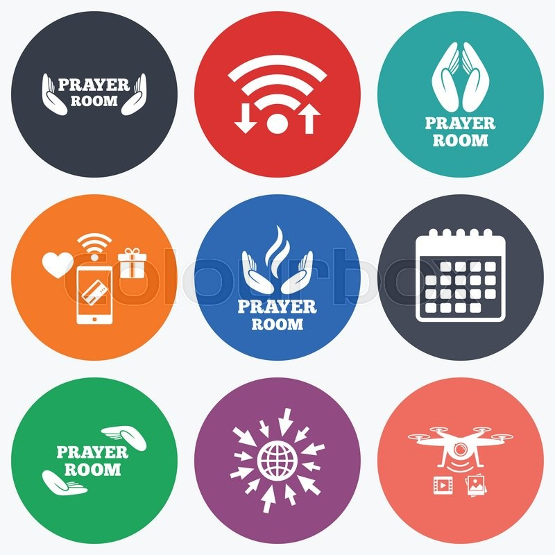 Wifi Mobile Payments And Drones Icons Prayer Room Icons Religion