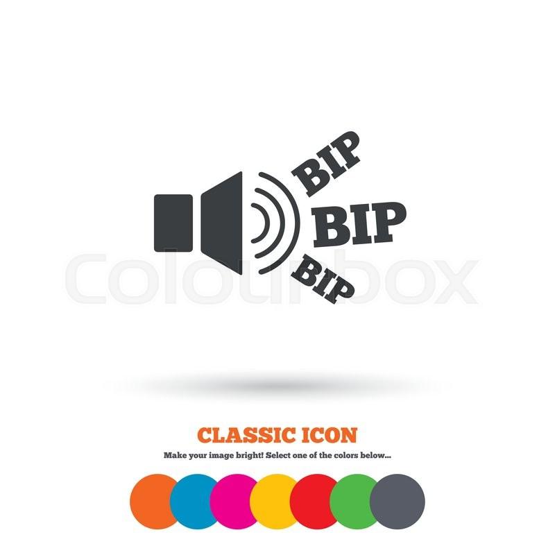 Speaker Volume Icon Sound With Bip Symbol Loud Signal Classic
