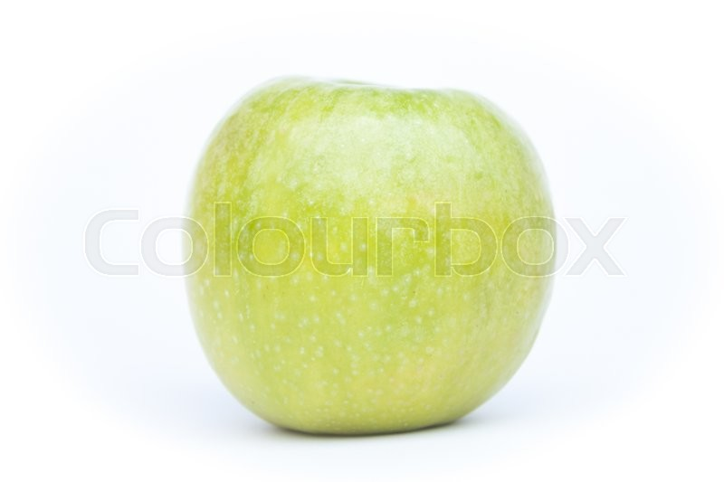 Stock image of 'Green apple on white background, stock photo'
