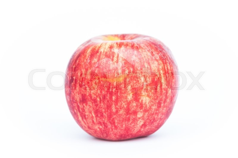 Stock image of 'Red apple on white background, stock photo'