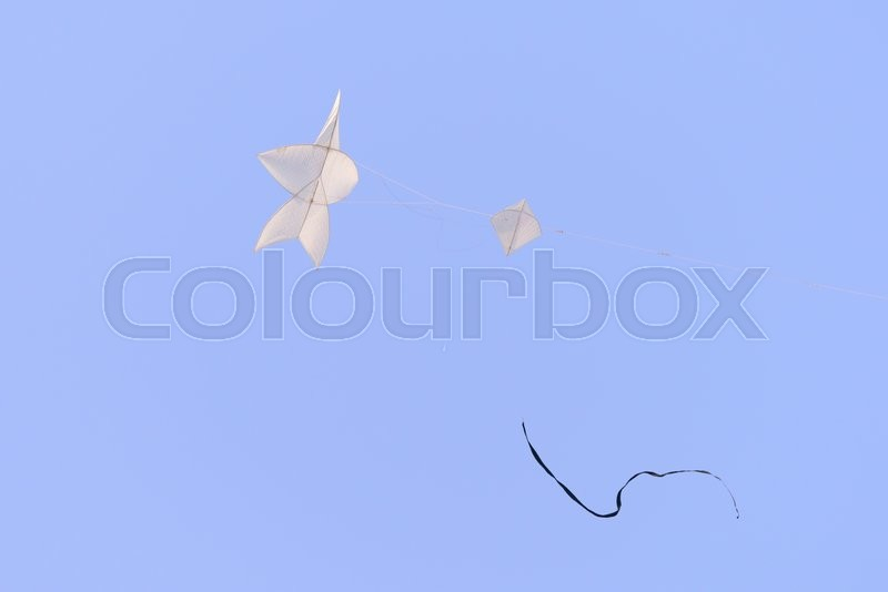 Stock image of 'Flying star-shaped kite, Popular Thai traditional culture in summer.'