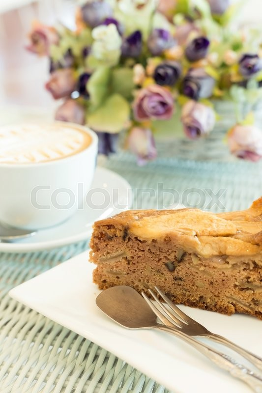 Stock image of 'brown cake bakery in cafe coffee shop restaurant'