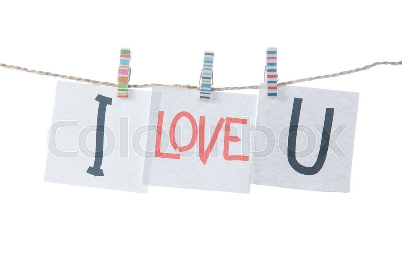 Stock image of 'Valentines day card,words of love on white background'