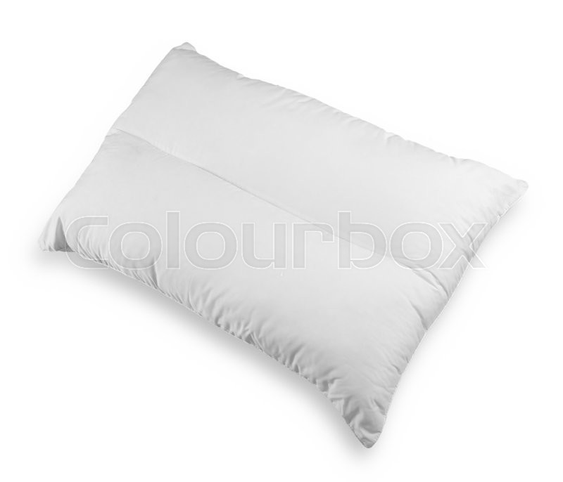 Stock image of 'White pillow isolated on white background'
