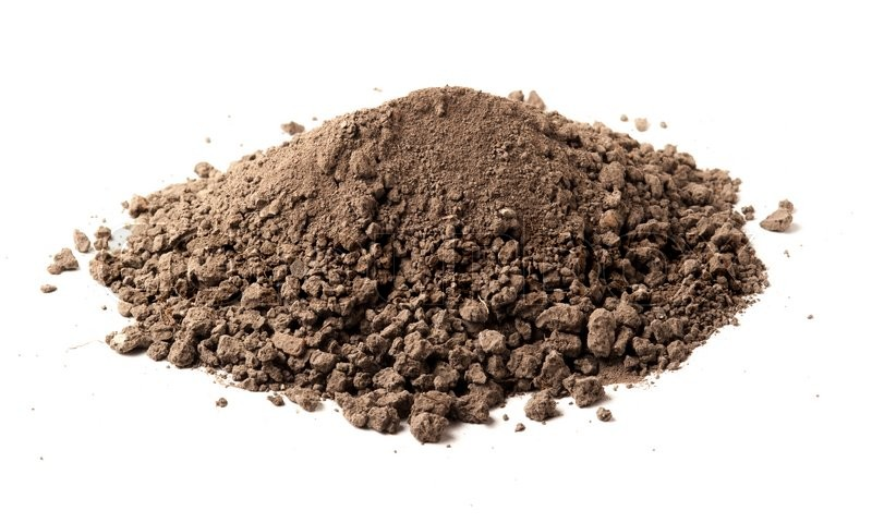 Stock image of 'Pile of soil isolated on white background'