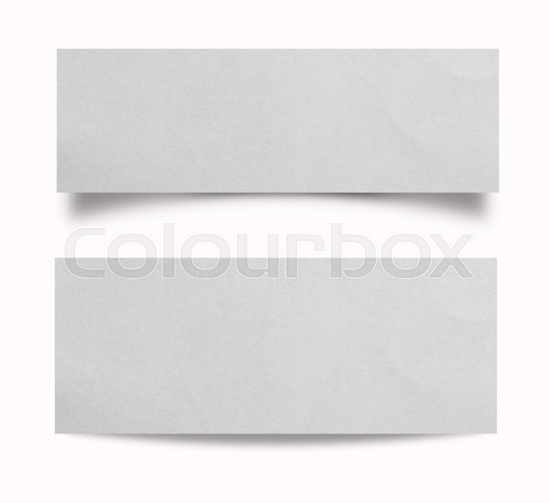 Stock image of 'Close up of a piece of note paper on white background'