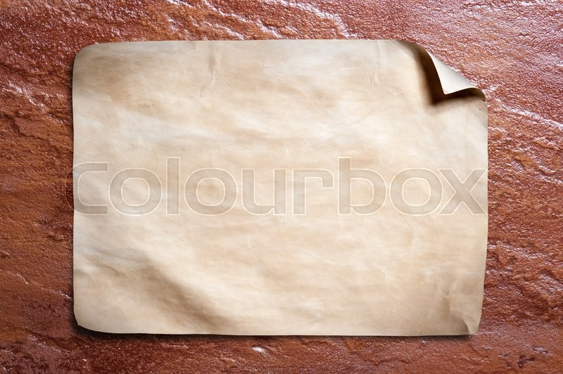 Stock image of 'Old paper on stone background.'