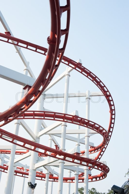Stock image of 'Segment of a roller coaster'