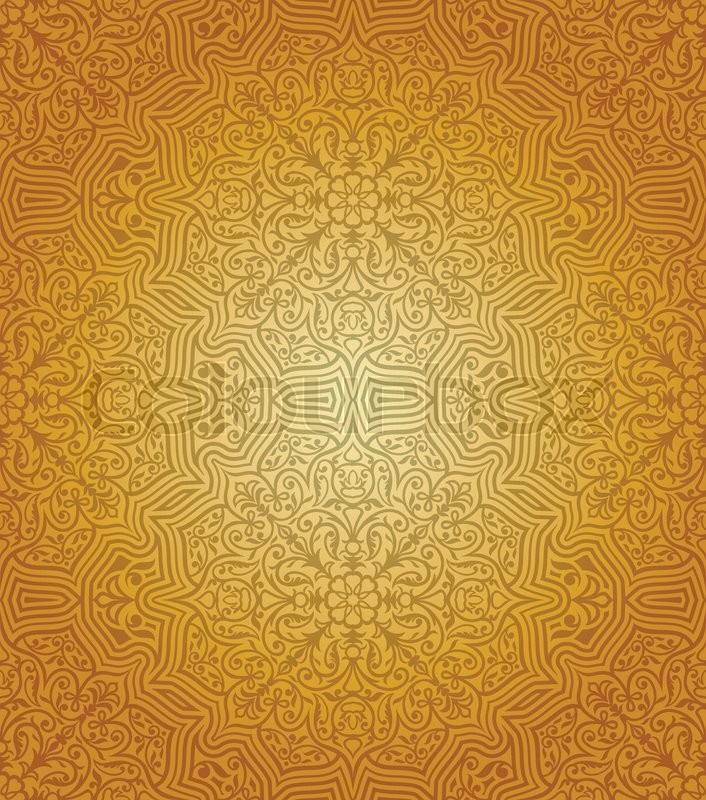 Vintage Islamic Gold Pattern Creative Background Rich