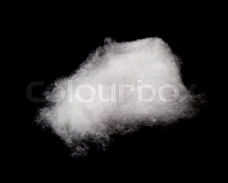 Stock image of 'Cotton Wool Cloud isolated on Black Background'