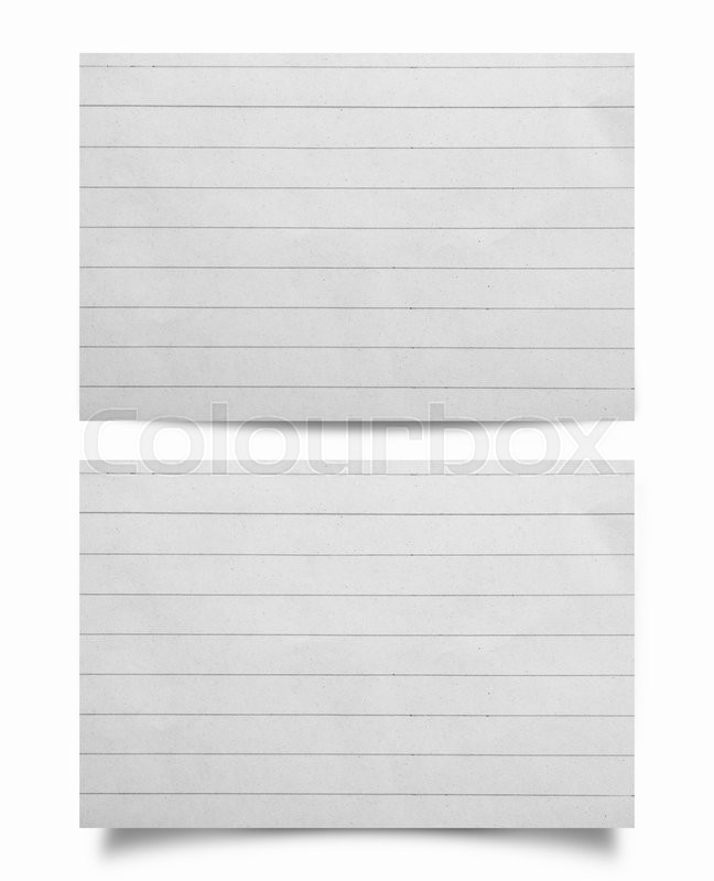 Stock image of 'Collection of piece of note paper on white background'