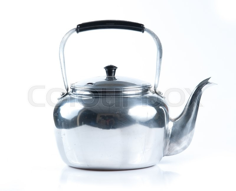 Stock image of 'Kettle tea on white background'