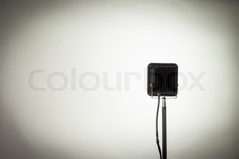 Stock image of 'Studio background and flash light'