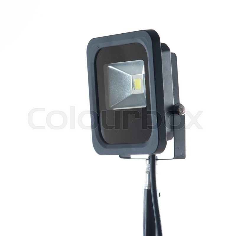 Stock image of 'LED spotlight isolated on a white background'