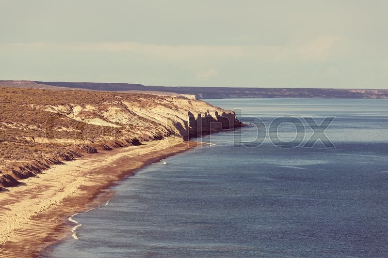 Stock image of 'Patagonian Coast in Argentina'
