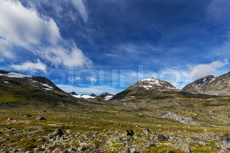 Stock image of 'Mountains in Norway'