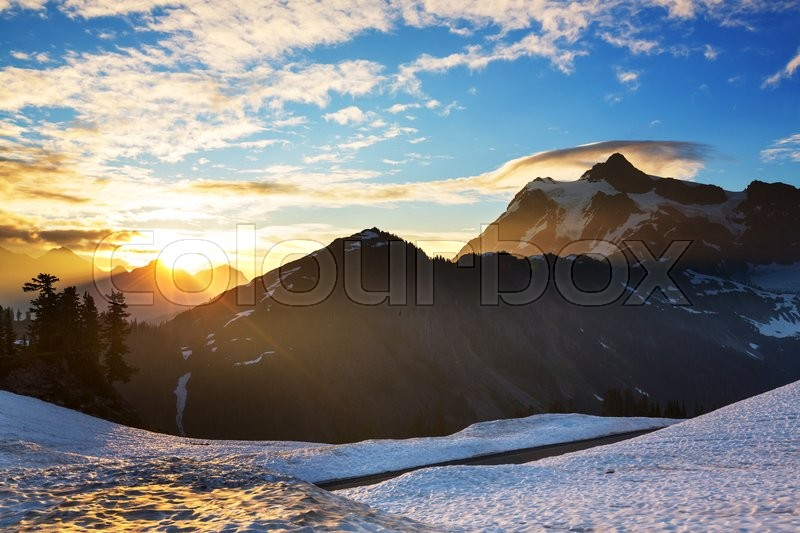 Stock image of 'Mount Shuksan, Washington'