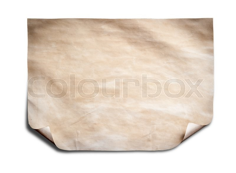 Stock image of 'Old paper sheet isolated on white background'