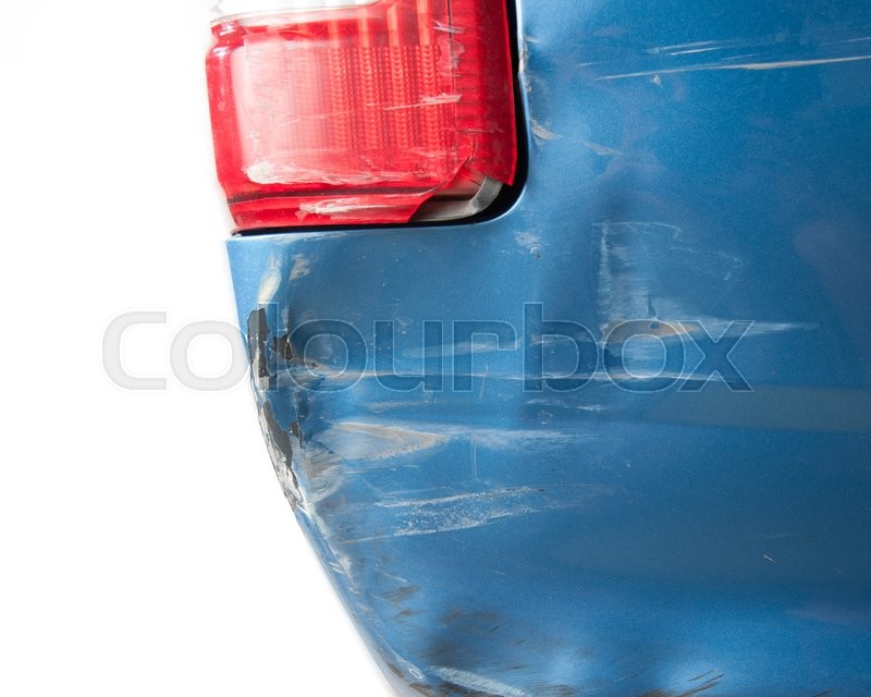 Stock image of 'Car get damaged by accident,Broken the rear lights on white background'