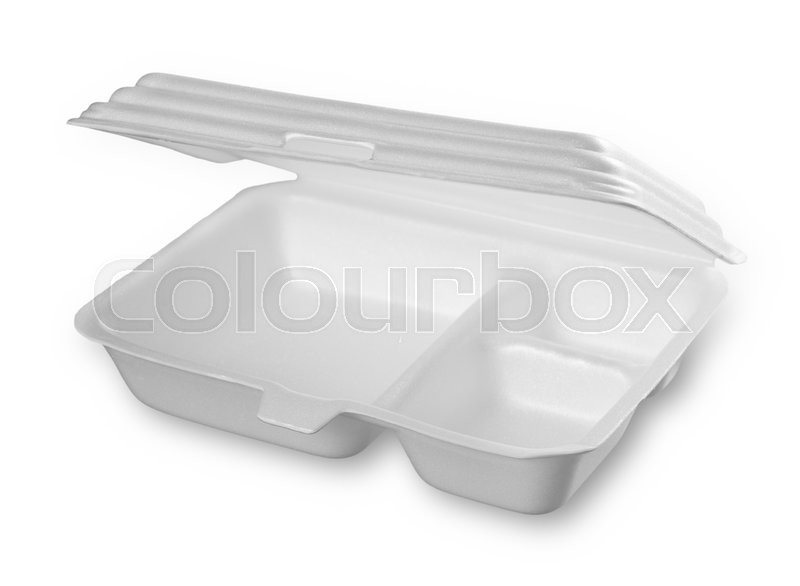 Stock image of 'Styrofoam of food container isolated on white'