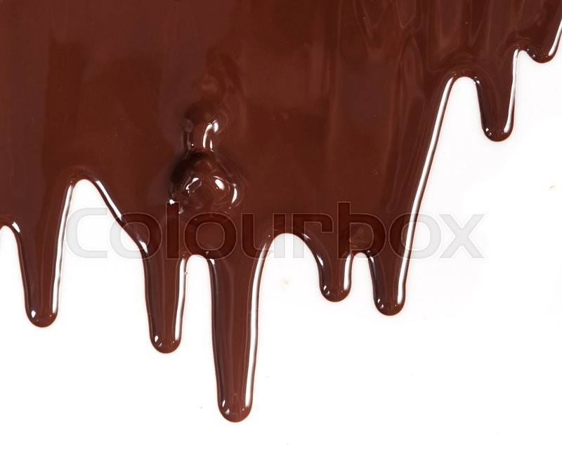 Stock image of 'Chocolate syrup drip pattern isolated on a white background'