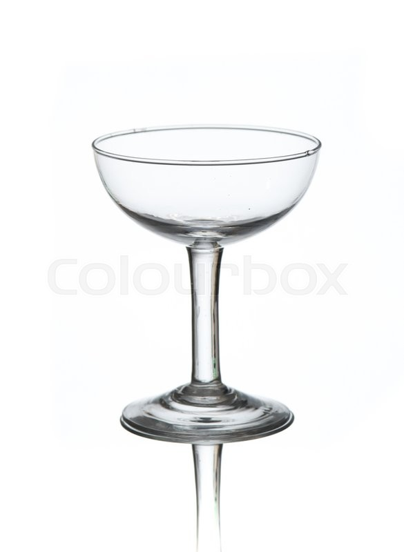 Stock image of 'Empty cocktail glass on white background'