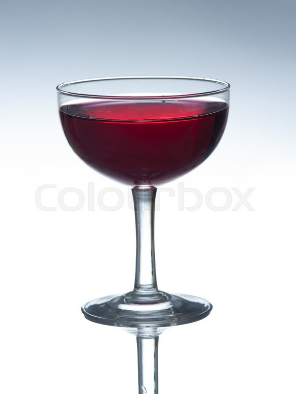 Stock image of 'Red wine in glass isolated on white background'