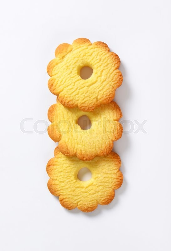 Stock image of 'Canestrelli - Italian flower-shaped biscuits with a delicate vanilla flavor'