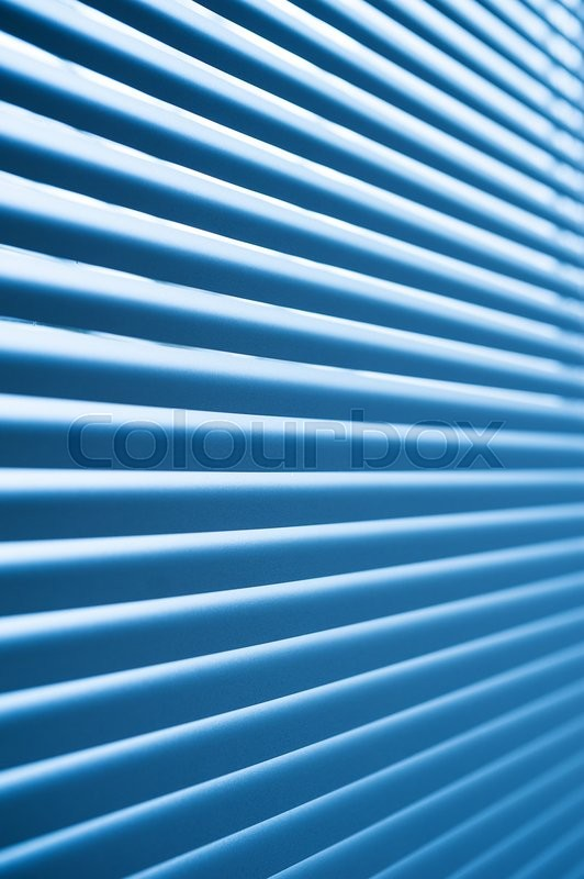 Stock image of 'modern blue plastic Shutter Blinds in room close-up'
